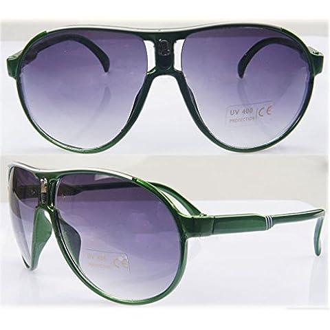 Verde Bambino Cool Bambini Ragazzi Ragazze Bambini cornice in plastica Occhiali da sole occhiali FLE mondo Eye