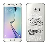 "Samsung Galaxy S6 Edge Cover by licaso® from TPU protects your S6 Edge 5.1"" Coffee Gangster Rap Drink Music Protective Cover transparent clear protective case bag Silicone Style (Samsung Galaxy S6 Edge, Coffee Gangster Rap)"