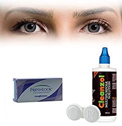 Freshlook Colorblends Contact Lens with Lens Case & Solution - 2 Pieces (-2.25,Blue)