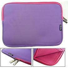 Emartbuy® Púrpura / Rosa Funda Case Cover Sleeve Impermeable con Cremallera de Neopreno SuaveWith Rosa Interior & Cremallera apto para Teclast X16 Power 11.6 Pulgada Tablet ( 11.6 - 12.5 Pulgada Tablet Chromebook Laptop )