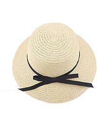 Dorical Cappello Grande da Donna con Bordo Women Foldable Large Brim  Crochet Summer Knit West Cowboy 63a2f5ef3560