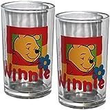Unbekannt 2 x Kinderglas Winnie Pooh Glas Wasserglas Kinder Saftglas