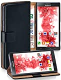 moex® Booklet mit Flip Funktion [360 Grad Voll-Schutz] für Samsung Galaxy Note 3 Neo | Geldfach & Kartenfach + Stand-Funktion & Magnet-Verschluss, Schwarz
