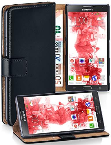 moex Booklet mit Flip Funktion [360 Grad Voll-Schutz] für Samsung Galaxy Note 3 Neo | Geldfach & Kartenfach + Stand-Funktion & Magnet-Verschluss, Schwarz