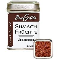 Sumach Gewürz- gemahlene Sumachfrüchte ( Zitronenersatz ) | Fa. BenCondito | 90 Gramm in der Gewürzdose