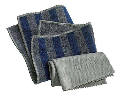 e-cloth (U.K.) Hob & Oven Pack - 2 Cloths Brilliant on: Ceramic - Glass - Stainless Steel - Enamel (32x32cm / 50x40cm) (Pw68-HOP)