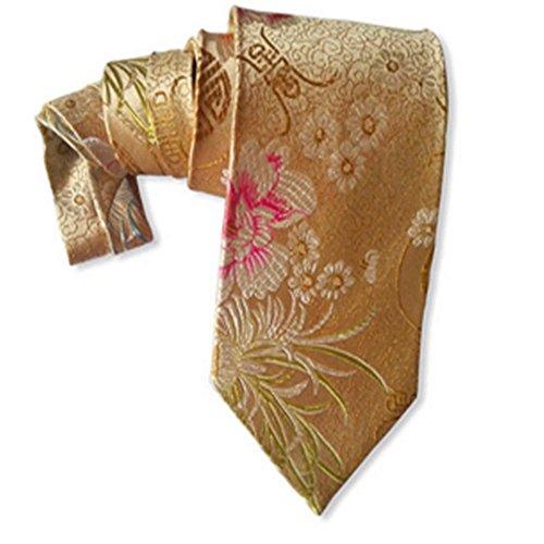 Design Silk Bow Tie (Krawatten und Fliegen für Seidene Krawatten Apricot Yellow Peony Silk Tie Krawatten und Fliegen für)