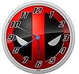 LL Wanduhr Deadpool Design ca. 20 cm Durchmesser mit lautlosem Uhrwerk Unisex Kinderzimmer Büro Arbeitszimmer Motiv 3