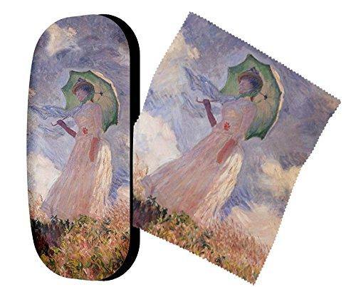 Artis Vivendi 9225 | Brillenetui und Brillenputztuch | Monet - Frau mit Sonnenschirm | in Dekomiro...