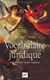Vocabulaire juridique - Presses Universitaires de France (PUF) - 06/01/2000