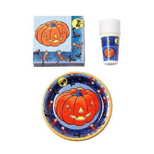 Brauns-Heitmann 30469 - Partyset Halloween Kürbis, 40 teilig
