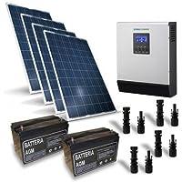 Kit Solare Baita Pro 1KW 24V Impianto Fotovoltaico Stand-Alone Isola