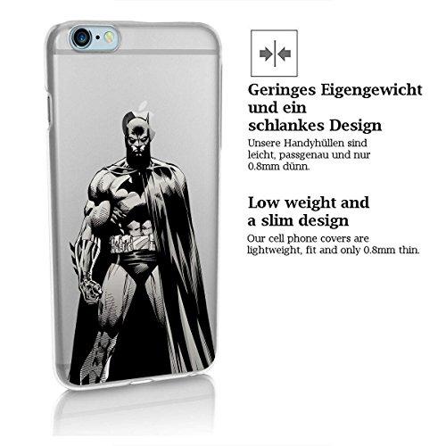 finoo | iPhone 8 Handy-Tasche Schutzhülle | ultra leichte transparente Handyhülle in harter Ausführung | kratzfeste stylische Hard Schale mit Motiv Cover Case |Logo become bat Batman Full