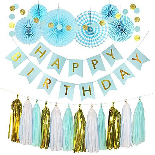 Hivexagon Set de 20 Piezas Kit de Fiesta: Pancarta de Feliz Cumpleaños,...