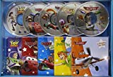 Cars 1 & 2 ; Peter Pan ; Planes ; Toy Story - Coffret 5 livres 5 CD (5CD audio)