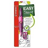Ergonomischer Druck-Bleistift - STABILO EASYergo 3.15 - pink/lila - inklusive 1 dicker Mine Härtegrad HB & Spitzer - für Rechtshänder