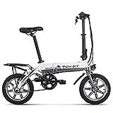 Vélo électrique Richbit pliant Vélo de ville avec 250 W * 36 V * 10.2ah longue durée Roue 35,6 cm Nouvelle mise à jour, femme Homme, gris