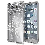 NALIA Handyhülle für LG G6, Slim Silikon Motiv Case Cover Crystal Schutz-Hülle Dünn Durchsichtig, Etui Handy-Tasche Backcover Transparent Bumper für G-6 Smart-Phone, Designs:Feathers