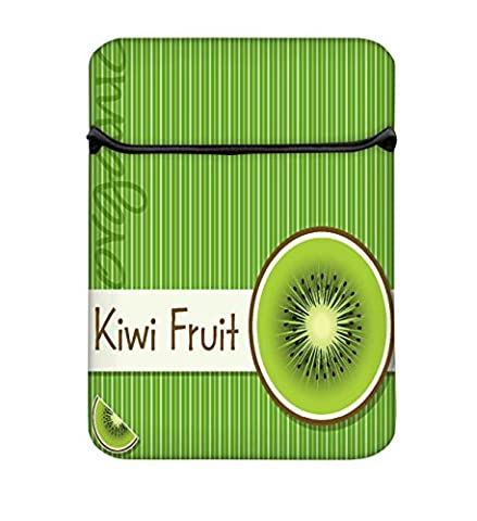 Lumineux Kiwi Organic Fruit carte en Vector Format 11à 29,5cm Housse pour ordinateur portable avec fermeture Éclair et Intégré de 2poches pour chargeur & Mouse