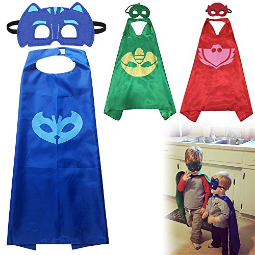 AllRight Superhero Cape Costumes Fancy Dress Up For Kids 3 Capes And Masks Costume Kit