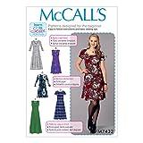 McCall's Patterns 7432ZZ Damenkleider, Tissue, Mehrfarbig, Größen groß–2x Große
