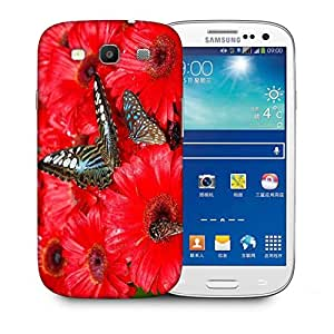 Snoogg Brown Butterfly Printed Protective Phone Back Case Cover For Samsung S3 / S III