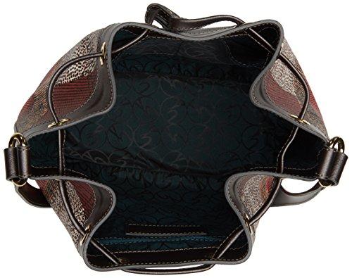 Gattinoni Gplb026, Borsa a Secchiello Donna, 12 x 27 x 26 cm (W x H x L) Grigio (Tibetan)