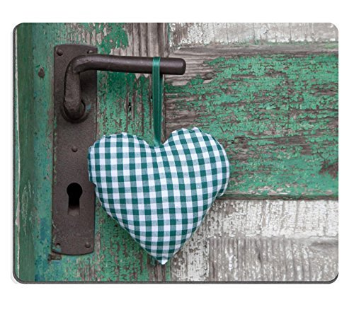 Jun XT Gaming Mousepad Bild-ID: 22673965kariert grün Textil Herz hängen auf Tür Griff -
