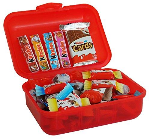 Lunch Box Merry Christmas Ferrero Kinder Spezialitäten, 1er Pack (1 x (Mann Kostüm Milch Lieferung)