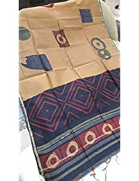 Mahimas New Handloom Bagru Printed Chanderi Handblock Printed Chanderi Dupatta Chadup22