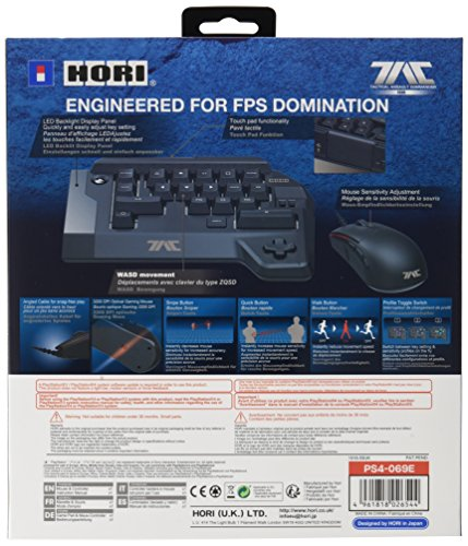 HORI Tactical Assault Commander FOUR Keyboard and Mouse Controller (PS4/PS3) galerija