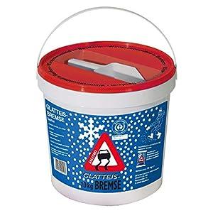 Streugut Winter I Streugranulat 10 kg Eimer + Schaufel I Streusalz Alternativen I Umweltschonend + Tierfreundlich I Wiederverwendbar zur Bodenverbesserung