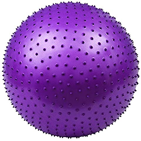 Explosionsgeschützte Yoga Massage Fitness Ball Anti-Rutsch & Durable Super Starke Lager Kraft 2000lbs Extra dicken Core Cross Training Ball für für Frauen und Männer in zwei Farben ( Color : Purple