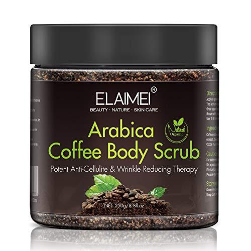 Natürliches Kaffee-Körperpeeling, Behandlung von unebenen Hauttönen, Sonnenflecken, stumpfer Haut, Haut aufhellen und die Haut mit Feuchtigkeit versorgen für alle Hauttypen