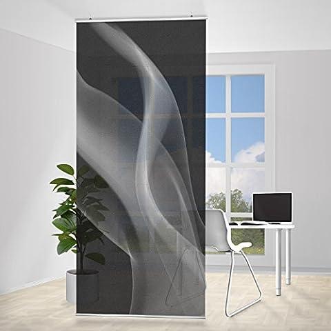 Panel japones Silver Smoke, Tamaño: 250 x 120cm, panel japonés, paneles japoneses, separadores de ambientes, cortina, paneles japoneses cortina,
