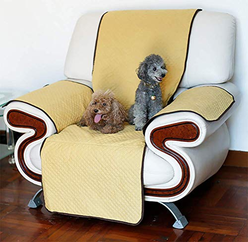 Dan copridivano impermeabile divano protector mobili coperture su due lati per cani/gatti letto con divano slipcovers,beige