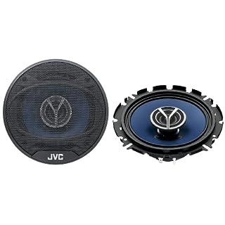 JVC CS V 626 2-Wege-Koaxial 16 cm Autolautsprecher (210 Watt, 84 dB/Wm) schwarz/blau