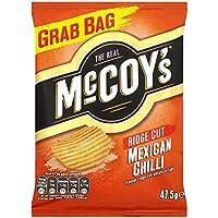 Canto de corte de chile mexicana sabor a patata patatas fritas 47,5 g del Real McCoy (paquete de 30 x 47,5 g)