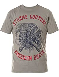 AFFLICTION Pullover Sport Battalion Grau//Weiß T-Shirts