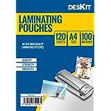 Deskit – Lot de 120 pochettes de plastification format A4 100microns