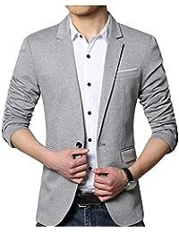 Homme Veste De Costume Casual Business Blazer Un Bouton Blousons Manteaux  Slim Fit 7fec190c422