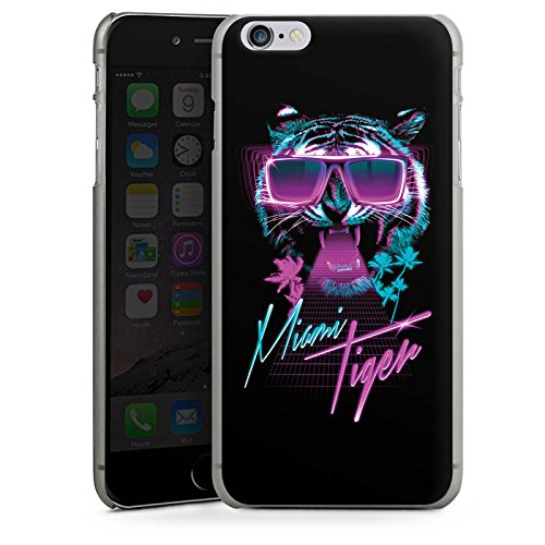 Apple iPhone X Silikon Hülle Case Schutzhülle Miami Tiger Sonnenbrille Hard Case anthrazit-klar