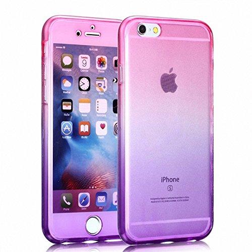 König-Shop Full TPU Case für Motorola Moto X Style Schutz Hülle Handy Pink Lila Cover