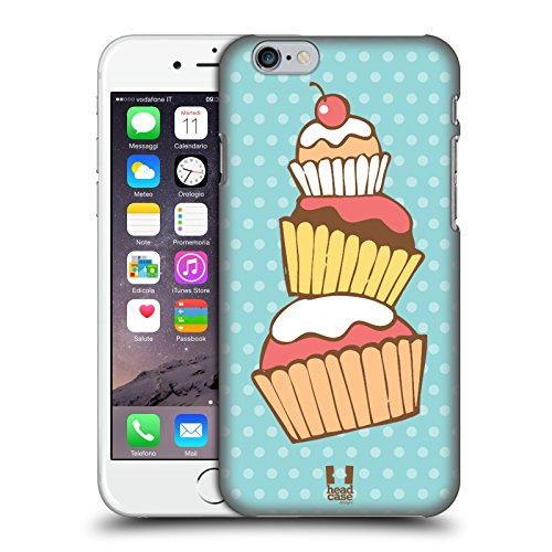 Head Case Designs Dolci Piaceri Cupcake Cover Retro Rigida per Apple iPhone 7 Plus / 8 Plus Gruppo