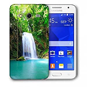 Snoogg Green Waterfall Printed Protective Phone Back Case Cover For Samsung Galaxy Core 2 / Core II G355H