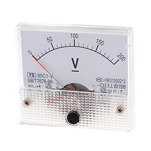DC 0-200V 85C1-V Rectangle Dial Panel Mount Analoges Voltmeter Messgerät DE Panel-mount-voltmeter