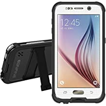 Galaxy S6 Caja estanca [Elegante Serie Adventure] 6.6ft Eonfine subacuática impermeable hermético al polvo a prueba de choques Snowproof completa sellada la cubierta del caso para Samsung Galaxy S6 IP68 certificada Blanca