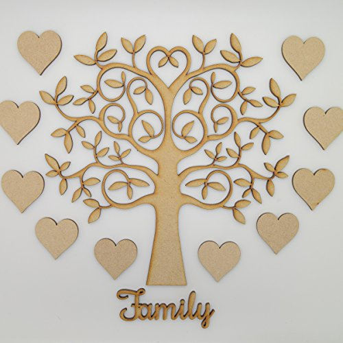 Family-Tree-Set-Kit-MDF-Tree-Hearts-and-Family-Wording-Make-your-own-Family-Tree