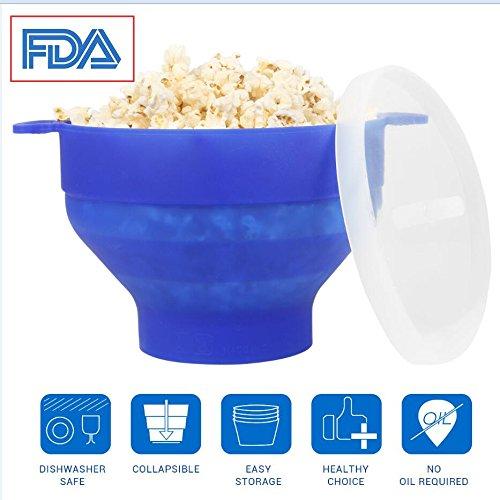 Popcorn Schüssel Mikrowelle Silikon, Popcornmaker Mini Zusammenklappbar, Mikrowellenschüssel