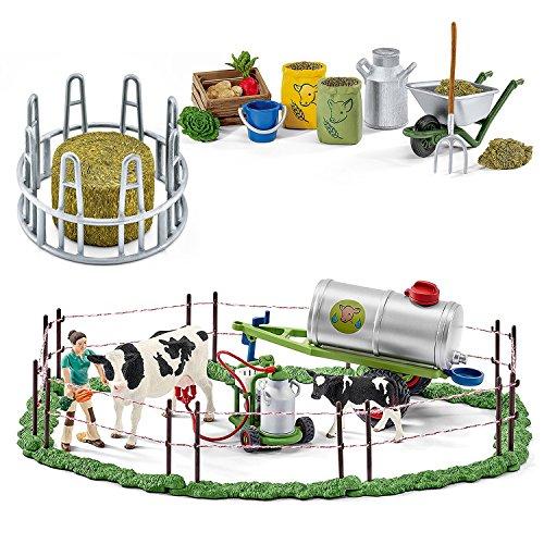 Schleich Fütterung auf der Weide Set 41428 42301 41421 Zubehör 3er Set Farm Life